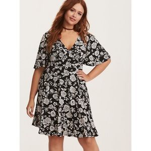 Torrid | Floral Print Flutter Sleeve Dress
